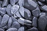 Kies Splitt Zierkies Edelsplitt Canadian Slate schwarz getrommelt, 30-60mm Sack 20 kg