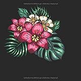 Skizzenbuch quadratisch: Blanko Zeichenbuch | Skizzenbuch |120 Seiten | Hibiskus Motiv | Softcover | quadratisch 21,59cm x 21,59 cm | Seiten mit Rahmen | weißes Papier