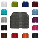 4 tlg. Handtuch-Set in vielen Farben - 4 Handtücher 50x100 cm - Farb