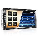 XOMAX XM-2D6907 Autoradio mit Mirrorlink für Android I kapazitiver 6,9' / 17,5 cm Touchscreen Bildschirm I DVD, CD, USB, SD, AUX I Bluetooth Freisprecheinrichtung I 2 DIN