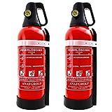 2X Feuerlöscher 2L ABF Fettbrand Schaum Kombi-Löscher - sehr handlich - mit KFZ Halter DIN EN3 + ANDRIS® Prüfnachweis
