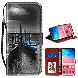 Blue Boat Bridge Galaxy S10+ (2019) [6,4 Zoll] Wallet Case mit Kartenhalter
