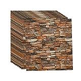 3d Brick Wandpaneele Selbstklebend Tapeten Wand Dekoration Retro Nostalgischer Ziegelstein Muster Tapete FüR Kinderzimmer Schlafzimmer Wohnzimmer, 70 * 77CM(B10pcas)