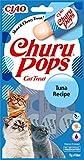 INABA Churu Pops - Katzen Leckerlie zum Füttern aus der Hand - Köstliche, leckbare Katzensnacks - T