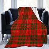 Allures Schottischer Clan Livingstone Moderne, karierte Decke, Sherpa-Decke, gemütliche Bettdecke für Familienfeste, Geschenk, Fleecedecke, warme Sofadecke, 127 x 101,6 cm