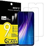 NEW'C 2 Stück, Schutzfolie Panzerglas für Xiaomi Redmi Note 8, Note 8 2021, Xiaomi Mi 9 Lite, Frei von Kratzern, 9H Härte, HD Displayschutzfolie, 0.33mm Ultra-klar, Ultrabeständig