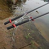 BEPM Angeln Rod Pod Rutenhalter Stellfischrutenhalter Outdoor Faltbare Verstellbare Halterung Angelrutenständerhalter Sea Fishing Tackle Zubehör Werkzeug