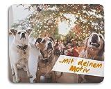 Kopierladen Mousepad/Mauspad mit eigenem Foto, Bild oder Text gestalten, ca. 22 x 18 cm, personlisierbar, rutschfest und flexibel - Fotogeschenk