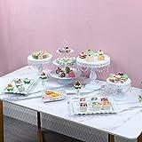 9 tlg Retro Wedding Cake Dessert Holder Tortenplatte, Servierplatte Relief aus mit Standfuß
