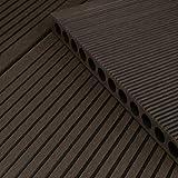 HORI® WPC-Terrassendiele Anthrazit XXL Hohlkammerdiele I Komplettset inkl. 40x60 mm Unterkonstruktion & Clips I Fläche: 5 m² I 3,50 m Dielenlänge I Anthrazit