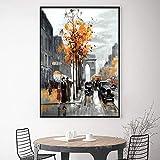 Abstrakte Paris Arc de Triomphe Straße Leinwand Gemälde Wohnzimmer Poster Und Drucke Wandkunst Wohnzimmer Wohnkultur 70x100cm Rahmenlos