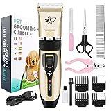 OVAREO Tierhaarschneider Haarschneidemaschine Schermaschine Hund Katze Haustier Wiederaufladbare Haarschneider Elektrische Haustier Clipper