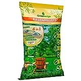 Rasensamen Grassamen schnellkeimend Rasenpellets 1.2 kg Rasen Reparatur Mischung für robusten und widerstandsfähigen Rasen Rasensaat für 45 m² zur Einsaat und N