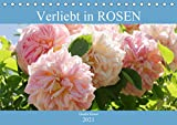 Verliebt in Rosen (Tischkalender 2021 DIN A5 quer)