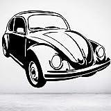 Wandaufkleber Classic Vintage Wandtattoo VW Käfer Autotür Fenster Vinyl Aufkleber Teen Jungen Schlafzimmer Mann Höhle Garage Home Decor Wallpaper 42x58cm