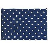 Kirschkernkissen 30 x 20 cm, Sterne-blau - Als Wärmekissen & Kältekissen - Körnerkissen für Mikrowelle und Backofen (30x20cm)