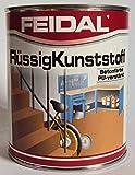 Feidal Flüssigkunststoff, zum Versiegeln und Beschichten von Betonböden, Farbton: Silbergrau RAL 7001 / 750 ml