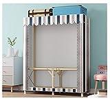 LJWLZFVT Kleiderschrank Faltbarer Kleiderschrank Tragbarer Kleiderschrank Tragbarer Kleiderschrank, Vliesstoff und Hängestange, schnelle und einfache Montage(Size:110X45X160CM,Color:B.)