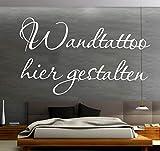 Sprüche Wandtattoo selber gestalten Wunschtext Wandaufkleber Name Datum Zitat oder Spruch mit Vorschau desig