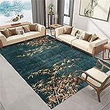 Teppiche Teppich fußbodenheizung geeignet Wohnzimmer grüner Teppich Graffiti Bambusblatt Muster chinesischen Stil Teppich wohnzimmerdeko Baby Spiel Teppich 180*250cm