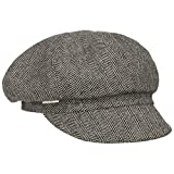 Seeberger Palena Herringbone Ballonmütze Schirmmütze Schildmütze Damencap (One Size - schwarz-grau)
