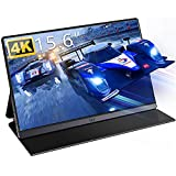 4K Portable Monitor, IVV 15.6' Tragbarer Monitor IPS Bildschirm, UHD 3840x2160 Gaming Monitor, für Laptop, Handy, PC, Pi, Xbox One Switch PS3 PS4 Pro PS5