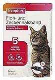 beaphar 17606 Floh- und Zeckenhalsband für Katzen