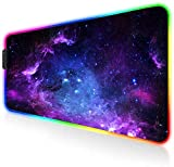 AILRINNI Mauspad XXL, 800x300x4 mm RGB Gaming Mauspad Mit 12 Beleuchtungs-Modi, Anti Rutsch Mauspad Gaming für Computer PC Gamer