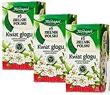 8061 Weißdornblüte, Kräutertee zum Schutz des Herzens, Herbapol, Sparpack 3 x 20 Beutel x 2 g, Für normaler Blutdruck