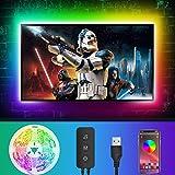 LED Strip 4M, LED Streifen RGB LED TV Hintergrundbeleuchtung, Über APP-Steuerung, TV Beleuchtung für 55-65 Zoll Fernseher und PC, USB-Betrieb