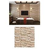 wangk 3D Wallpaper Tapete Wandpaneele Stereo Abnehmbare selbstklebend Tapete für Schlafzimmer Wohnzimmer Hintergrund TV Decor-Yellow 35-6 50pcs