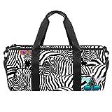 LAZEN Schulter Handy Sports Gym Taschen Travel Duffle Totes Tasche für Männer Frauen Zebra Art Print