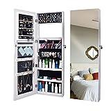 Spiegelschrank Schmuckschrank Wandhalterung Tür Hängende Spiegel Makeup Abschließbarer Schrank Aufbewahrungsschrank Dressing Cabinet Weiß