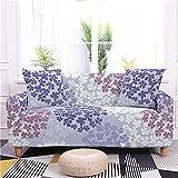 Elastische Sofabezug 4 Sitzer Sofaüberwürfe Minimalistischer Stil Couch Überwürfe Blätter Couchbezug Anti Rutsch Hussen für Sofas mit 2 Kostenloser Kissenbezug