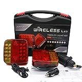 AOHEWEI Wireless Lighting LED Set Magnetische Anhänger Rücklichter Kabelfrei 12V LKW hinten ECE EMC Zugelassen für Anhänger, LKW, Wohnwagen oder LKW
