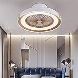 LED Acryl Deckenventilator Mit Beleuchtung, 72W Dimmbar Wohnzimmer Ventilator Deckenleuchte,Fernbedienung 3 Geschwindigkeit Leise Fan Deckenlampe Für Schlafzimmer,Esszimmer,Gold