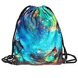 Gofodn Halloween-Rucksack mit Kordelzug, Unisex, 3D-Digitaldruck, Blumenstrauß-Tasche, für Damen und Herren, Rot - B - Größe: XL