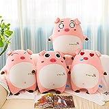 uictt 毛绒抱枕,高度:70猪毛绒玩具粉猪抱枕可爱表情猪公仔儿童玩偶生日礼物