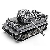 LIRONG Technics RC 2.4G Tank Modell Kit, 925Pcs WW2 Classic Deutschland Tiger Schwere Gepanzerte Militärische Tank-Gebäudeziegelsteine, Kompatibel Mit Lego-Technik