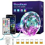 RGB+IC LED Strip 10m, Goohue Bluetooth DreamColor LED Streifen, Musiksynchronisations App Steuerung Beleuchtungsstreifen Kit für Schlafzimmerdecken Spiel PC-Bar TV-Party Weihnachtsdekorationen