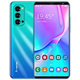 GAOword Rino4 PRO Günstiger Smartphone 5,8-Zoll-Vollbild-8-Core 4800mAh 4 GB 64GB 5G Smart Wecker, Gesichtserkennung, Fingerabdruck entsperren,Blau