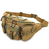 3–5 l taktische Molle-Tasche, wasserdicht, Hüfttasche, Wandern, Angeln, Sport, Jagd, Camping, Sporttasche, Gürtel, Khaki