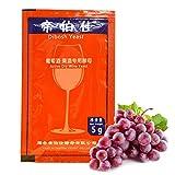 equival Weinhefe für Fruchtwein, 5G Naturhefe Weinhefe Trockenhefe Wine Making Kit für 25 kg Traubenalkohol Active Dry Yeast Liquor Maker