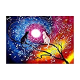 Hrsptudorc 5D Diamant Malerei Voll Kits, Katzen Kristall Strass Stickerei Bilder Kunst Handwerk Geschenk für Haus Wand Dekor Enthalten