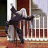 HeiHeiDa Halloween Deko Hängend Fensterklettern Geist Deko Horror Tür Deko Gespenst Geist Gruselig Hängend Grim Reaper Türvorhang Dekoration für Karneval Halloween Party Deko