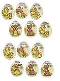 Dekorschilder Ostern aus Persipan Dekormasse | Tortendekoration Ostern | Backdeko 12 Stück