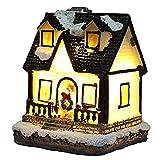 EElabper Weihnachtsbeleuchtung, Weihnachtsdorf Beleuchtung Lampe, Harz Dorfhaus Micro Landschaft Dekoration, Haus Dekorative Kerze Ornament Für Indoor Outdoor (c Style, 4.5x5x6cm)