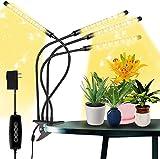 MATEHOM LED Pflanzenlampe Vollspektrum, 4 Umschaltung Modi & 10 Dimmbare Optionen, mit Timer, Pflanzenleuchte für Zimmerpflanzen Wachstumslampe Grow Lampe 360°Einstellb