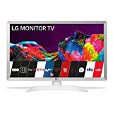LG 28TN515S-WZ Smart TV/Monitor, LED-HD-Monitor, 70 cm (28 Zoll), 1366 x 768, 16:9, DVB-T2/C/S2 WLAN 5ms 250CD/m2, 5M:1 Miracast 10 W, 1x HDMI 1.3, 1 x USB 2.0), Weiß