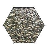 TRIWONDER wasserdichte Zeltplane, Hexagon Tarp, Picknickdecke, Zeltunterlage für Hängematte, Outdoor, Camping (ACU, L)